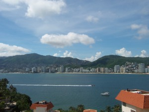 Llegando a Acapulco