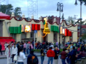Decoraciones durante las Fiestas Patrias