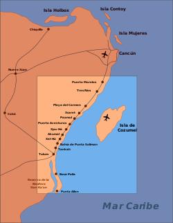 Geografa de Cancun - Sitios Total