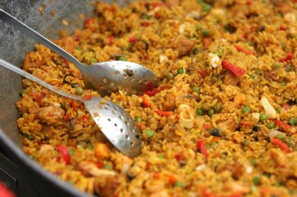 ... paella paella w i th w i ld mushrooms lobster and chor i zo paella